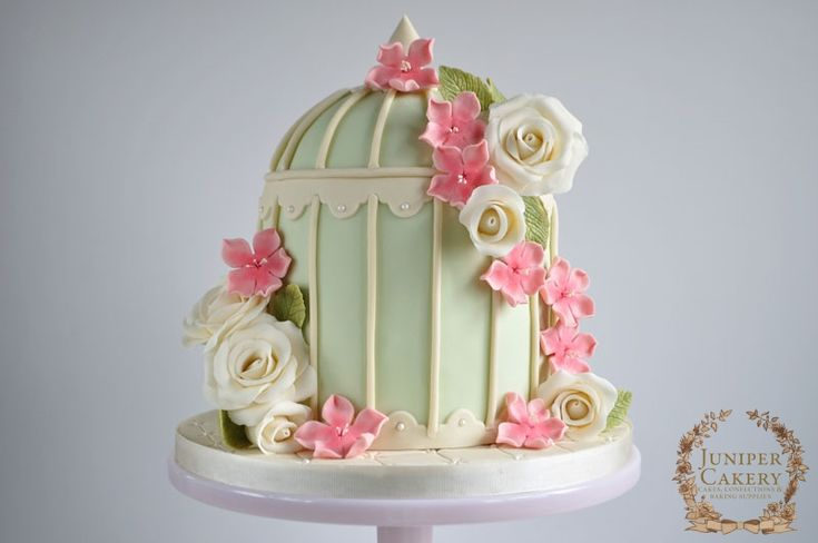Floral Birdcage Wedding Cake! - JUNIPER CAKERY : Cake Decorating Tutorials, Cake Decorating Supplies
