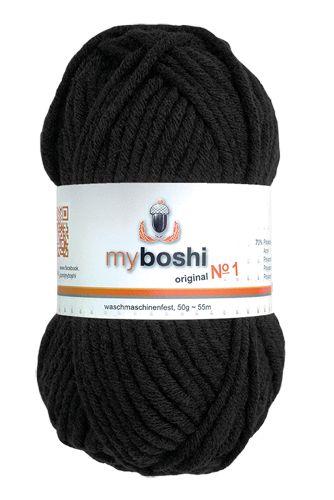myboshi No.1 196 schwarz 70% Polyacryl und 30% Schurwolle (Merino) 3,75 €