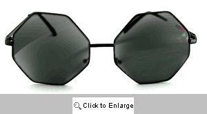 Autumn Octagon Sunglasses - 498 Black