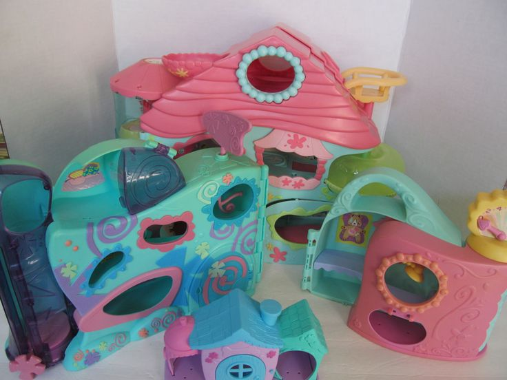 SALE TODAY ONLY For 150!Littlest Pet Shop Centers - Set of 4 Playsets- With 3 Pet Shop Animals by CellarDeals on Etsy