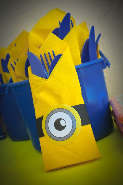 Despicable Bday Party- Napkins