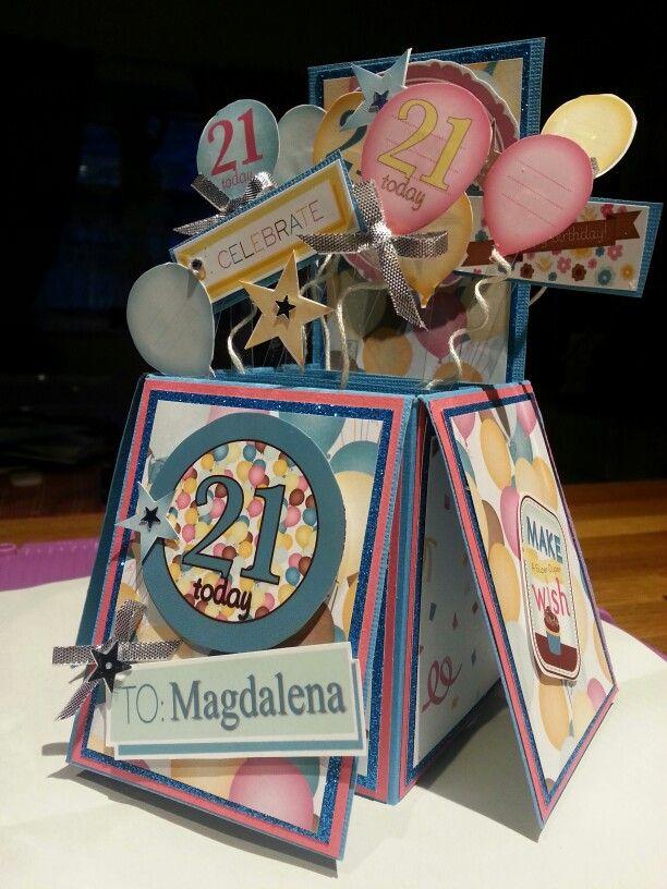 Box Card : 21st birthday