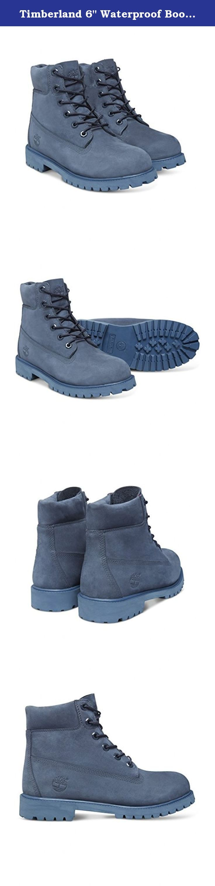 "Timberland 6"" Waterproof Boots Unisex Juniors (7 Big Kid M, Navy Monochromatic (Nightshadow)). Kids Timberland 6 Inch Nightshadow Monochromatic."