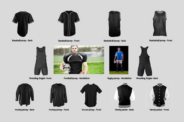 Download Jersey Mockup Psd Templates All Kinds Mockup Template Sports Jersey Rugby Jersey