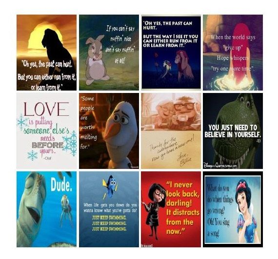 Digital Download - Disney Movie Quote Stickers for Erin Condren Life Planner