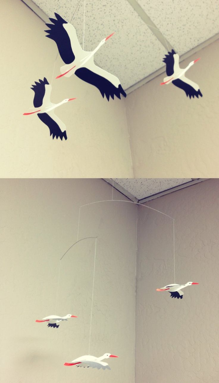 Bird Mobile  flying birds  Bird mobile Home decor Birds