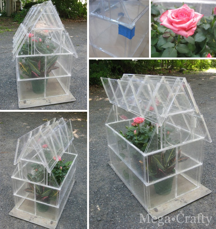 A really great idea! Mega•Crafty: Cd Case Greenhouse