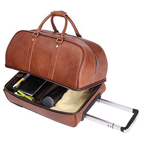 Leathario Herren Handgepäck Reisetasche Vintage Rindsleder Koffer mit Rollen on Hipster Shop - Entdecken, teilen und sammeln erstaunliche Produkte mit Hipster-Shop.com