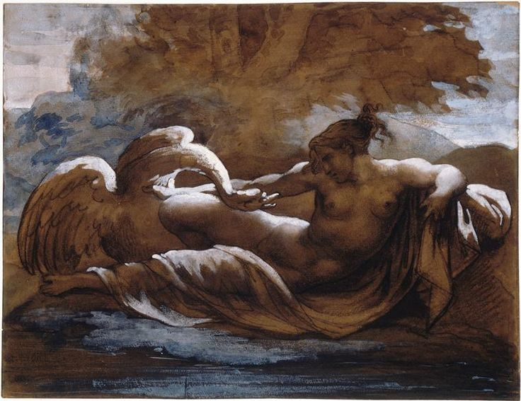 Leda and the Swan - Theodore Gericault - WikiArt.org: