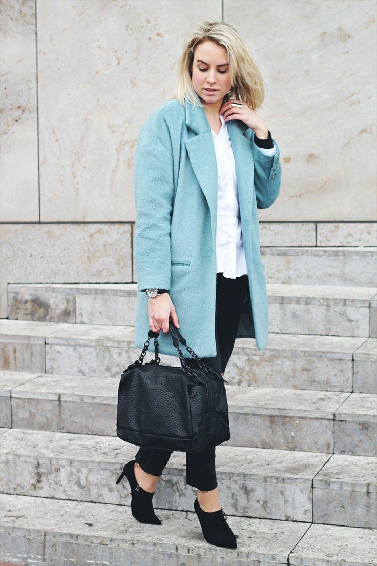 Baby Blue Coat - Fashion Hoax | creatorsofdesire.com