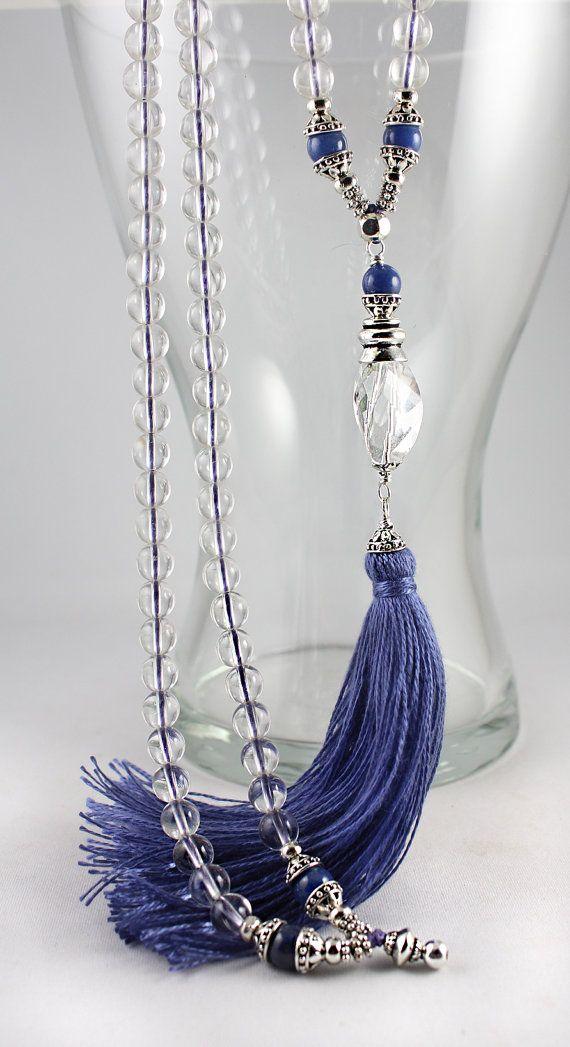 Mala Beads, Natural Quartz Mala, Prayer Beads, Gemstone Mala Beads, 108 Mala Beads, Tassel Mala, Tassel Necklace, Crystal Malal, White Mala