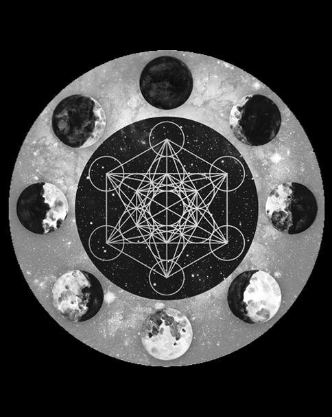 1000 ideas about shape tattoo on pinterest geometric for Moon phases and fishing