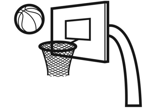 Sport: Basketballkorb zum Ausmalen