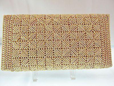 Handmade Envelope Purse Clutch Evening Bag Wallet Plastic Canvas Needlepoint