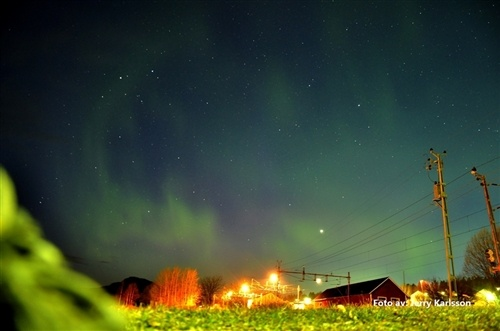 It would be amazing to sit under the Swedish sky and take in the Northern Lights. #PinStockholm Northern Lights in Fränsta.