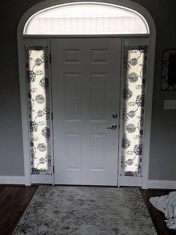 Door Panels Custom Foyer Rod Pocket Front Entry Door Panel