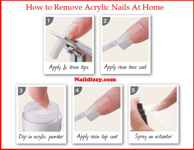 how to get wax off acrylic nails