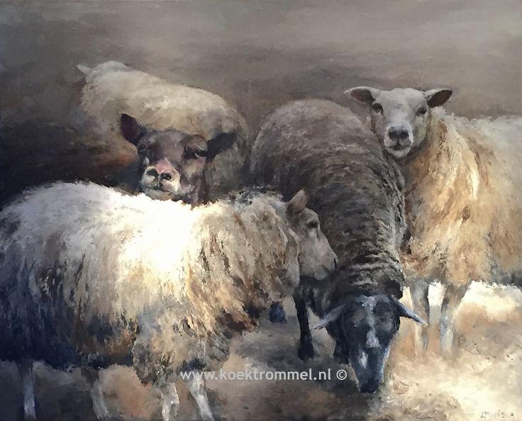 schilderij van schapen