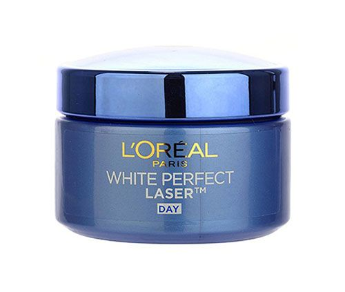 White Perfect Laser by L'Oreal. L'Oreal Paris White Perfect Laser All-Round Whitening Day Cream SPF19 / PA+++ contains highly efficient whitening PRO-VANISH3 ingredient, which provides intense whitening action by neutralizing melanin production at source and reducing melanin level. Full-spectrum UV filter system strengthens protection against UVA / UVB to prevent appearance of spots and future darkening. http://www.zocko.com/z/JJvHZ