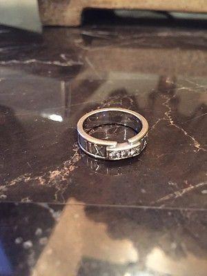 ***Tiffany & Co. 18K White Gold Diamond Atlas 1995 Roman Numeral Ring; $450, size 6