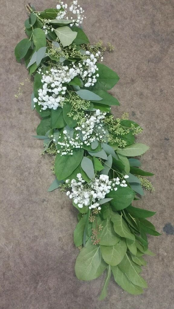 Salal w/ Eucalyptus and Baby's Breath