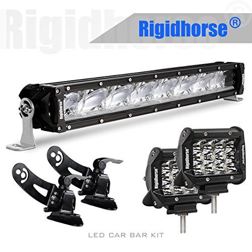 "LED Light Bar Kit, Rigidhorse 22"" 139W LED Car Bar Driving Light, 2 pcs 4"" LED Light Pods, with Adjustable Hood Mounting Bracket for Sports Car SUV Jeep Pickup, Hook All 3 Lights #Light #Kit, #Rigidhorse #Driving #Light, #Pods, #with #Adjustable #Hood #Mounting #Bracket #Sports #Jeep #Pickup, #Hook #Lights"