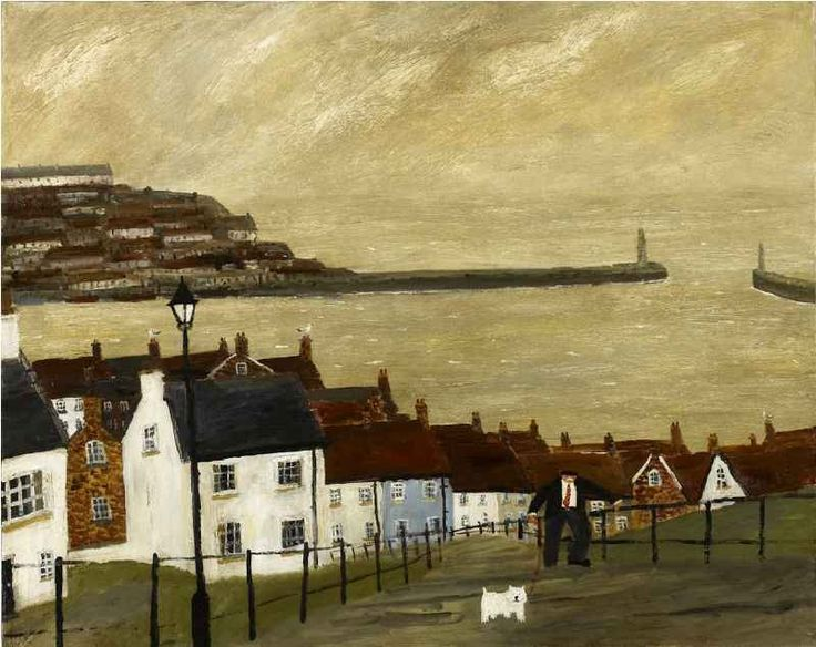 カイ: Gary Bunt... Houses illustrated paint sea Whitby, I presume?