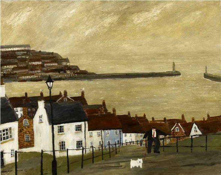 カイ: Gary Bunt... Houses illustrated paint sea Whitby, I presume?