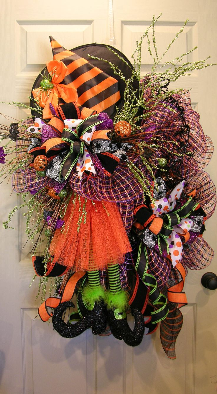 Too Too Cute Witch Wreath MilandDil Designs Fall