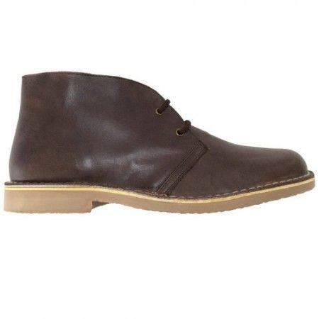 Ботинки мужские коричневые из кожи-наппы