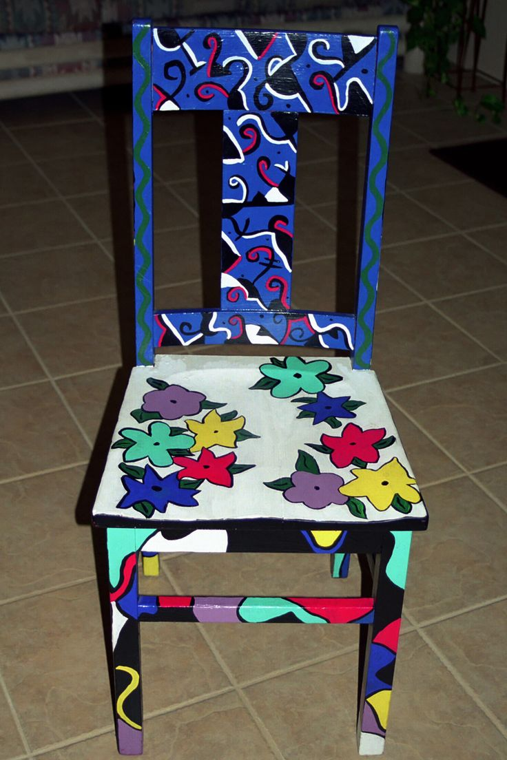 Ideas for hand painted chairs - Personal Artwork Painted Chairs By Carrie Butler At Coroflot