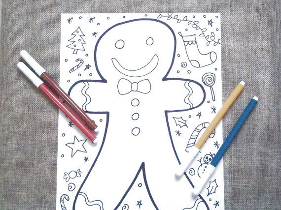 christmas gingerbread adult coloring book kids christmas doodle download art colouring home decor doodling xmas printable lasoffittadiste