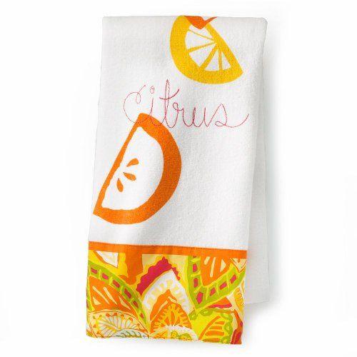 Yellow And Orange Kitchen: Tropical Kitchen Hand Towels (Citrus (Orange/Yellow)) $7