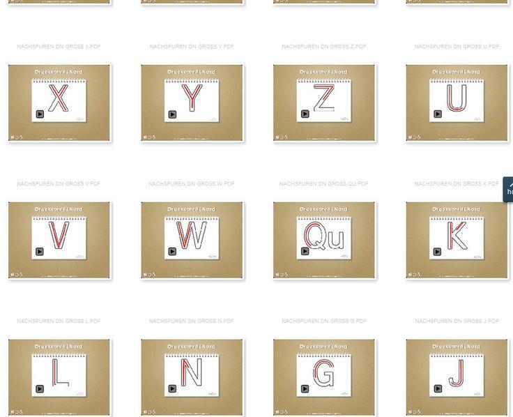 https://www.grundschulmaterial.de/medien/p/1/?q=buchstabe%20nachspuren: Buchstaben Erarbeitung, Buchstabenerarbeitung, animierte Schreibweise der Buchstaben in Grundschrift und Nordschrift, Animation, schreiben, Schreibrichtung, alle Buchstaben, Deutsch, erstes Schreiben, Vorschule, Klasse 1, nachspuren