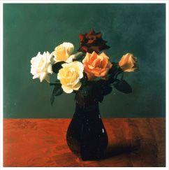 野田弘志 《手吹き花瓶にバラ》 2006年