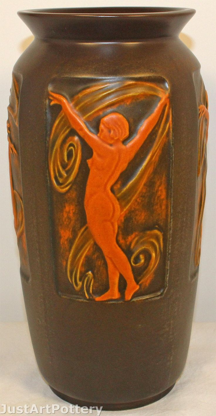 882 best american art pottery images on pinterest pottery roseville pottery rosecraft panel nude brown vase 296 10 from just art pottery reviewsmspy