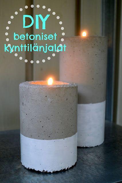 Betoniset kynttilänjalat