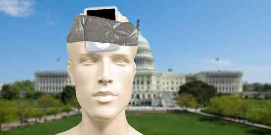 Mannequin With iPod Mini Playing Reagan Speeches Taped To...