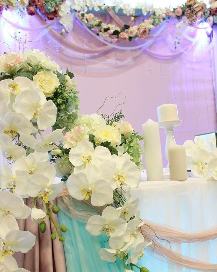 """Наших """"капризных"""" невест мы любим и балуем...... исполняем все пожелания.... Реппетиция декора, конечно много времени и сил уходит на дополнительные монтаж и, но зато, мы четко представляем как будет  выглядеть декор в день свадьбы . В этом наша надежность...... Необычное сочетание мятного и пыльно- розового придумала сама невеста. И в честь нее мы назвали  декор """"Ангел"""" .  Ангелина, рассказала, что она хотела бы видеть и мы исполнили все пожелания.  #парусаЛюбви #декорставрополь…"""