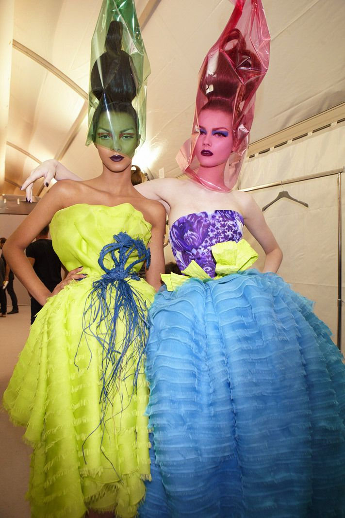 Christian Dior Haute Couture F/W 2010, backstage