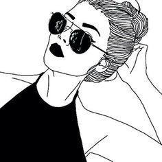 Resultado de imagen para adolescente en dibujo blanco y negro