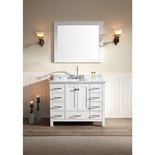 ARIEL Cambridge 43-inch Single-sink White Vanity Set - 18034491 - Overstock.com Shopping - Great Deals on Ariel Bathroom Vanities