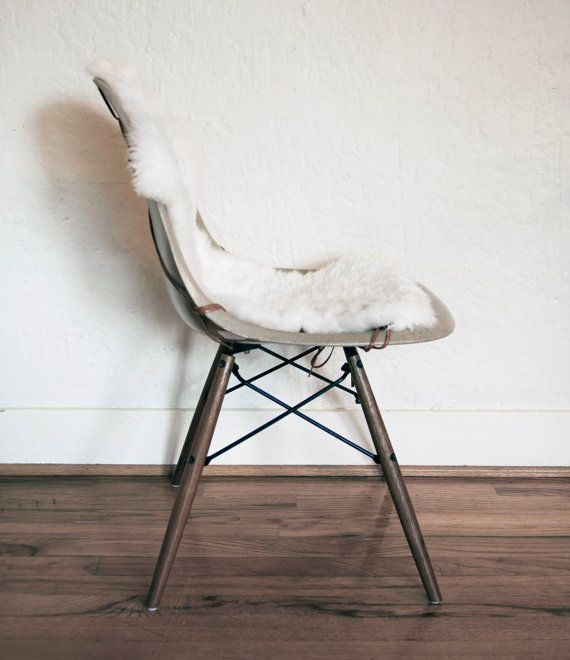 Authentic Sheepskin Covers for Eames Shell Chairs on Etsy, $115.13 CAD