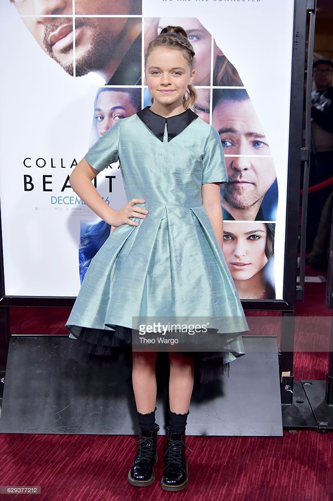 Kylie Rogers attends the 'Collateral Beauty' World Premiere at Frederick P. Rose Hall, Jazz at Lincoln Center on December 12, 2016 in New York City.  (Photo by Theo Wargo/Getty Images) Kylie is wearing a silk dress by @lazyfrancis www.lazyfrancis.com
