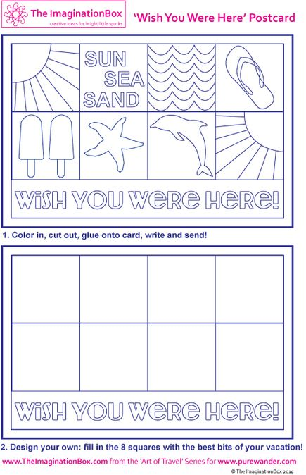 45 best Imagination Box Free Printables images on Pinterest Free - printable postcard template free
