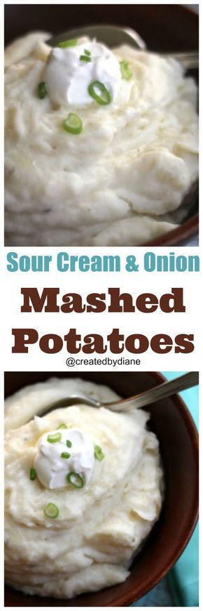 Smooth and creamy potatoes whipped in a KitchenAid Mixer with the wonderful flavor of Sautéed onions and sour cream along with garlic to kick it up a bit.
