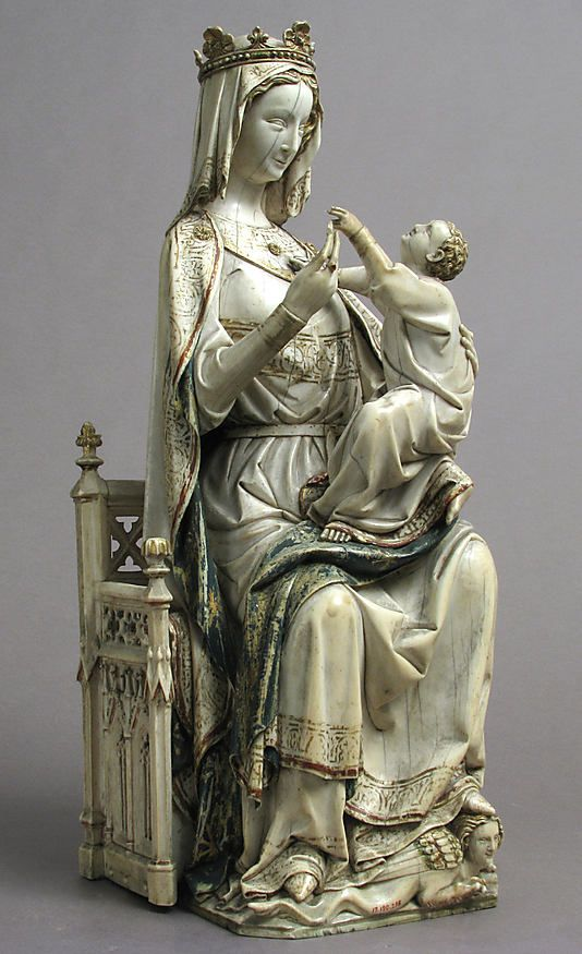 Virgin and Child Date: ca. 1275–1300 Geography: Made in France Culture: French Medium: Ivory with paint Accession Number: 17.190.295