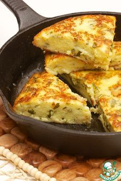 Быстрая сырная лепешка - кулинарный рецепт