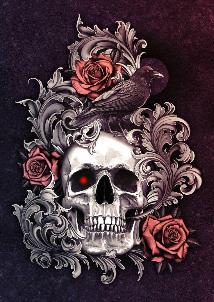 beautiful skulls Google Search in 2020 Horror prints