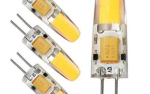 Kakanuo 4pcs G4 LED Ampoule 2W COB Blanc Chaud 2700K Non-Dimmable AC/DC12V Remplacement A Lhalogène 180LM 1*1505COB Epistar 360 dégrées…